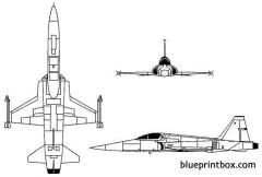 northrop f 5 freedom fighter model airplane plan