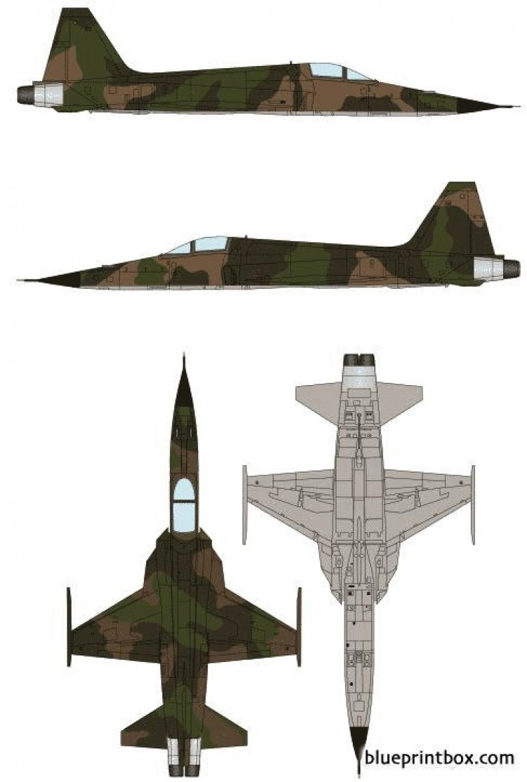 northrop f 5a freedom fighter model airplane plan
