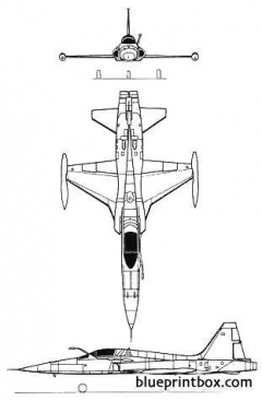 northrop f 5a freedom fighter 02 model airplane plan