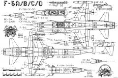 northrop f 5a freedom fighter 2 model airplane plan