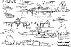 northrop f 5a freedom fighter 3 model airplane plan