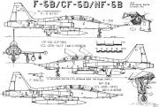 northrop f 5a freedom fighter 4 model airplane plan