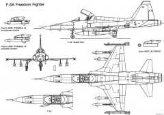 northrop f 5a freedom fighter 5 model airplane plan