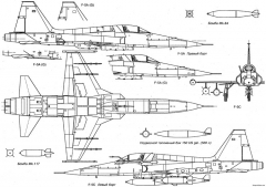 northrop f 5a freedom fighter 6 model airplane plan