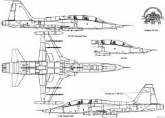 northrop f 5b freedom fighter 2 model airplane plan