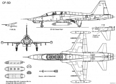northrop f 5b freedom fighter 3 model airplane plan