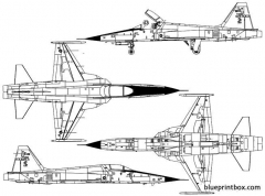 northrop f 5e tiger ii model airplane plan