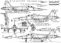 northrop f 5e tiger ii 3 model airplane plan