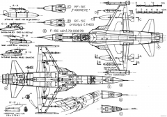 northrop f 5e tiger ii 4 model airplane plan