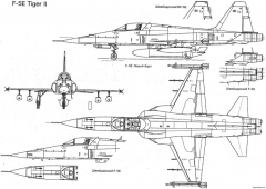 northrop f 5e tiger ii 5 model airplane plan