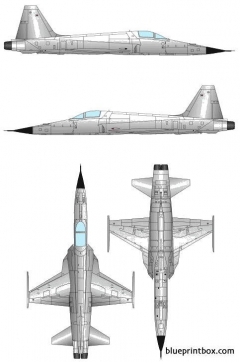 northrop f 5e tiger ii 6 model airplane plan