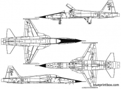 northrop f 5e tiger ii 8 model airplane plan