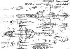 northrop f 5f tiger ii 4 model airplane plan
