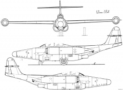 northrop f 89 scorpion 4 model airplane plan