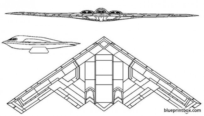northrop grumman b 2 spirit model airplane plan