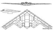 northrop grumman b 2 spirit 2 model airplane plan
