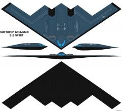 northrop grumman b 2a spirit model airplane plan