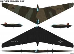 northrop grumman b 49 model airplane plan
