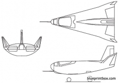 northrop hl 10 1966 usa model airplane plan