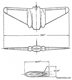 northrop jb 1 10 model airplane plan