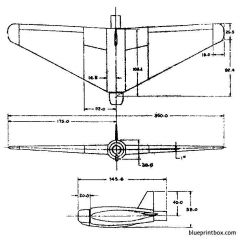 northrop jb 1 10 2 model airplane plan