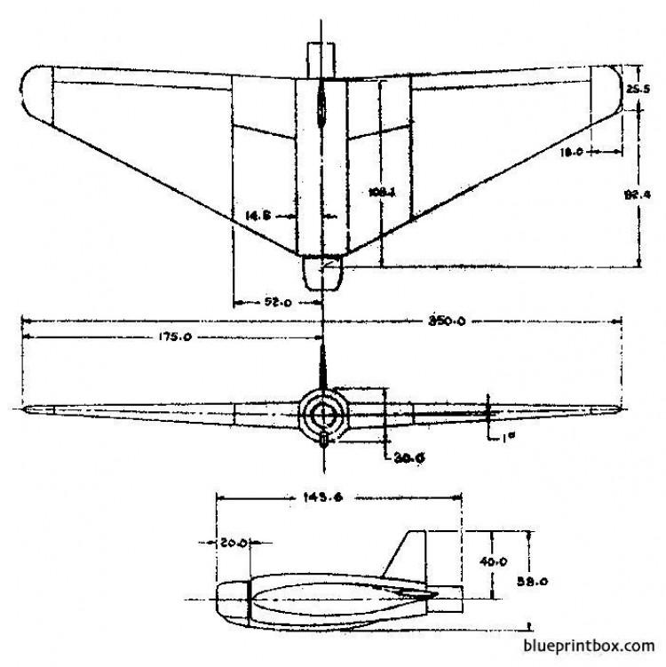 northrop jb 1 10 2 model airplane plan