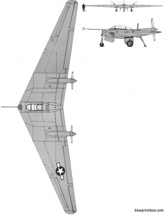 northrop n9m flying wing model airplane plan