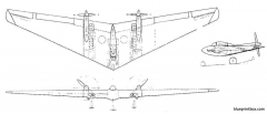 northrop n 9m model airplane plan
