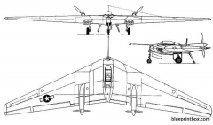 northrop n 9m 2 model airplane plan