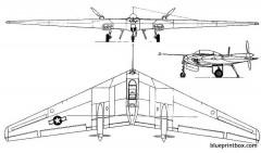 northrop n 9m 2 model airplane plan