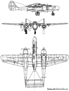 northrop p 61 blackwidow model airplane plan
