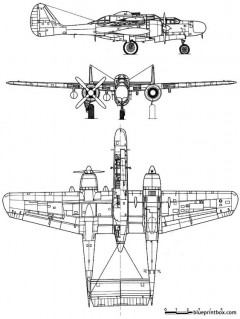 northrop p 61 blackwidow model airplane plan