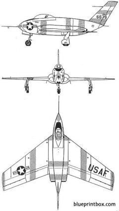 northrop x 4 model airplane plan