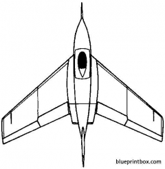 northrop x 4 bantam 1948 usa model airplane plan