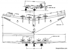 northrop xb yb 35 model airplane plan