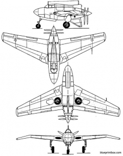 northrop xp 56 blackbullet model airplane plan