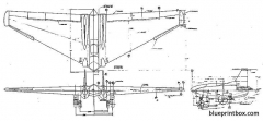northrop xp  79b model airplane plan