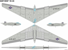 northrop yb 49 model airplane plan