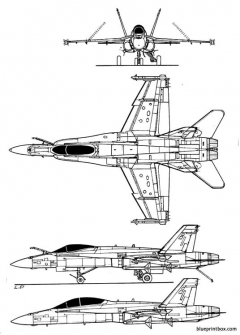 northropf 18 hornet model airplane plan