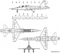 northropt 38 talon model airplane plan