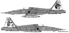 northrup nf 5a tiger ii model airplane plan
