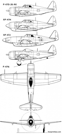 p47 2 model airplane plan