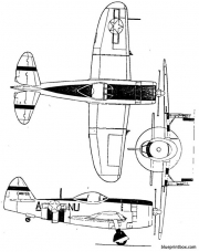 p47 thunderbolt model airplane plan