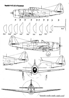 p47c 1 3v model airplane plan