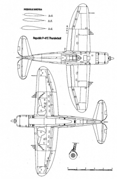 p47c 2 3v model airplane plan