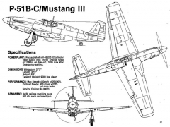 p51b 3v model airplane plan