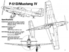 p51d 3v model airplane plan