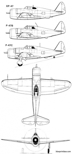 p 47 1 model airplane plan
