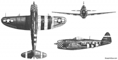p 47d model airplane plan