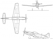 p 51d model airplane plan